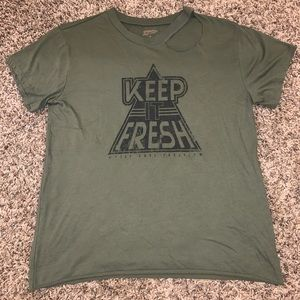 Army Green Graphic T-Shirt